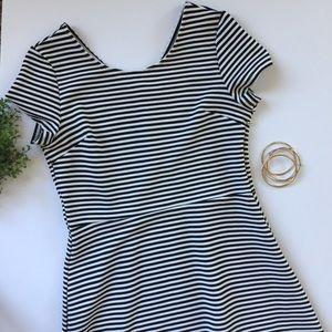 NWOT EZRA striped dress large black white 🖤